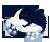 leichter Schnee-Schauer