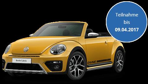 VW Beetle Cabrio Dune im Wert von 30.000€